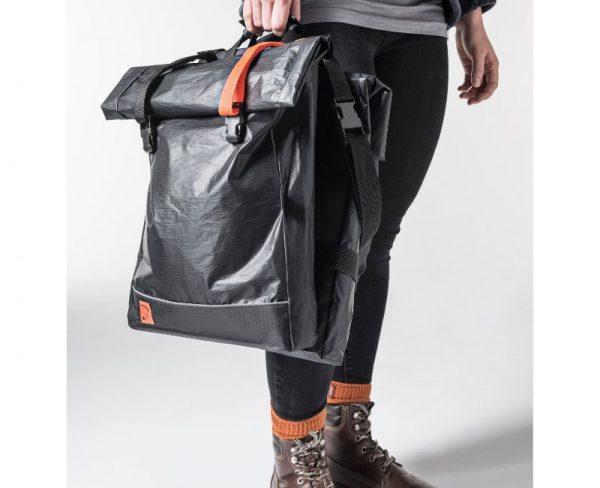 Quadrosdesign - leichte Fahrradtasche orange