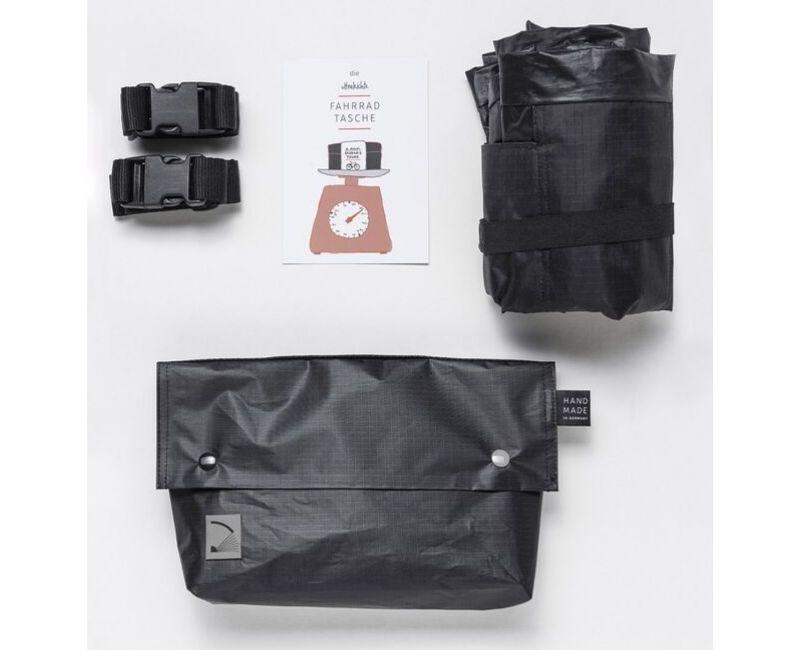 Quadrosdesign - leichte Fahrradtasche - silber